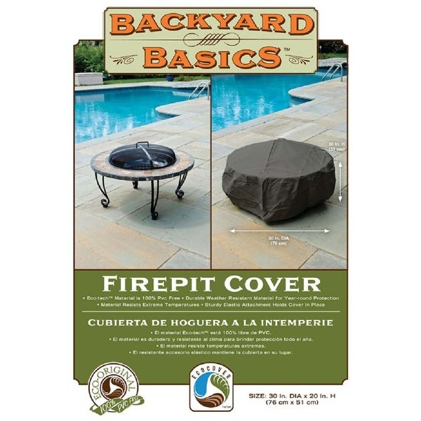 "Backyard Basics 07109GDBB Firepit Cover, 30""x20"""