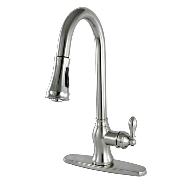 Kingston Brass GSY777.ACL Heritage 1.8 GPM Centerset Pull Down Kitchen Faucet