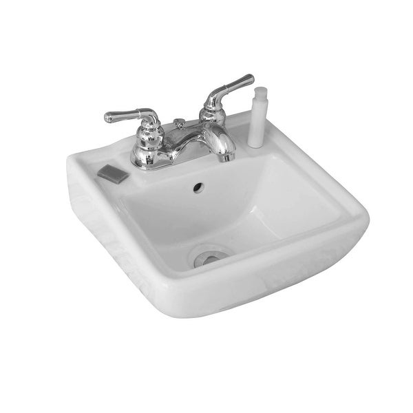 Fine Fixtures Ceramic 12.25-inch Small White Wallmount Sink