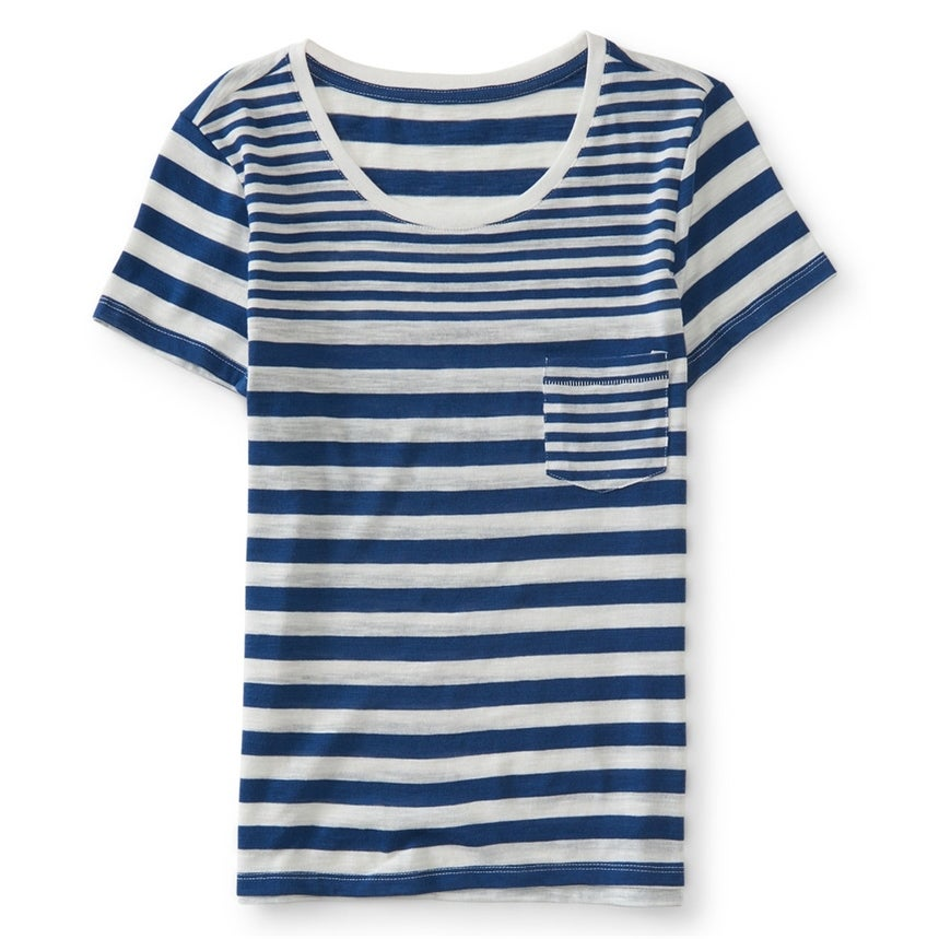 Aeropostale Damen Burnout Ss Basic T-Shirt