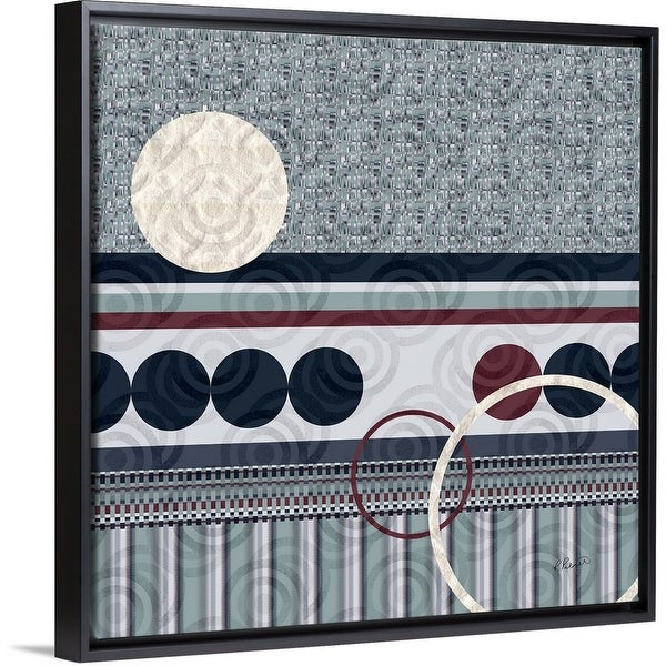 """Circular Succession Two"" Black Float Frame Canvas Art"