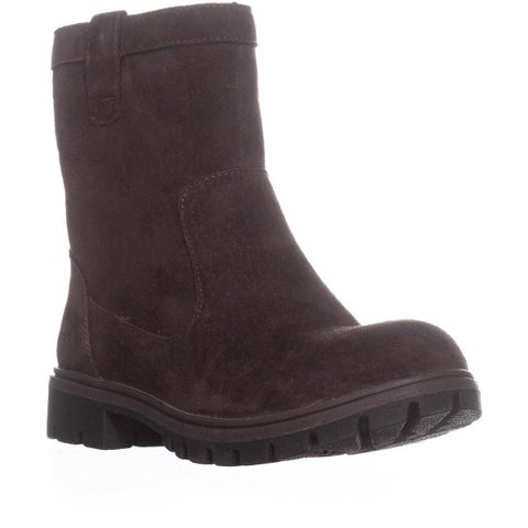 Born Bolsena Fleece Lined Chukka Boots, Dark Brown - 6 US / 36.5 EU