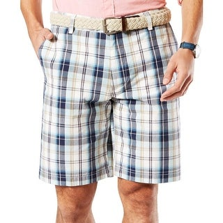 Dockers Mens Board, Surf Shorts Plaid Flat Front - 32|https://ak1.ostkcdn.com/images/products/is/images/direct/4ca623b9eb5dfc9fdb9b00e37c98e6fe0642c4c0/Dockers-Mens-Board%2C-Surf-Shorts-Plaid-Flat-Front.jpg?_ostk_perf_=percv&impolicy=medium