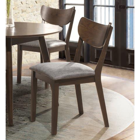Carson Carrington Kammarholmen Mid-century Modern Wood Back Side Chair (Set of 2)