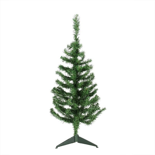 "3' x 18"" Mixed Green Pine Medium Artificial Christmas Tree - Unlit"