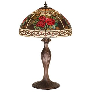 22.5 Inch H Roses & Scrolls Table Lamp