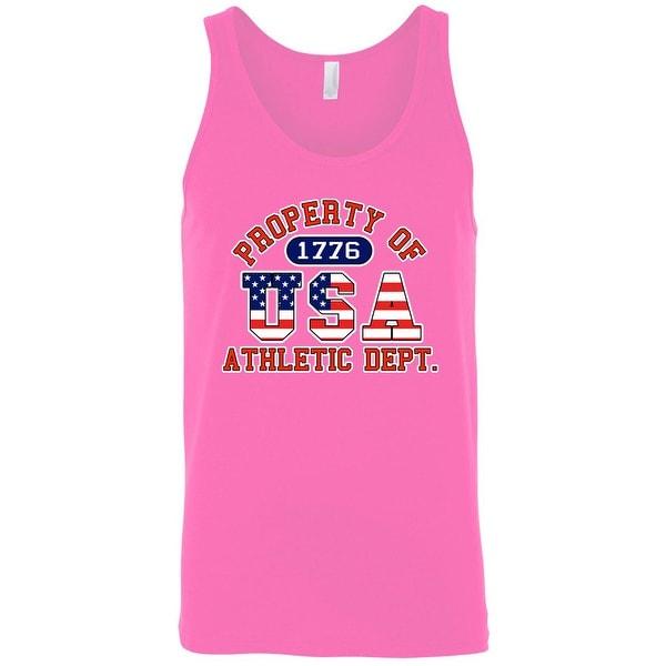 8daa72aa Shop Men's Tank Top USA Flag Pride Property of Athletic Dept. 1776 ...