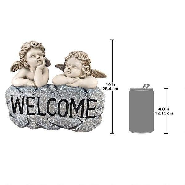 Raphaels Cherub Twins Welcome Statue