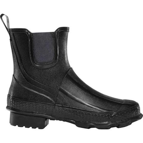 "LaCrosse Women's Grange 5"" Chelsea Boot Black Rubber"