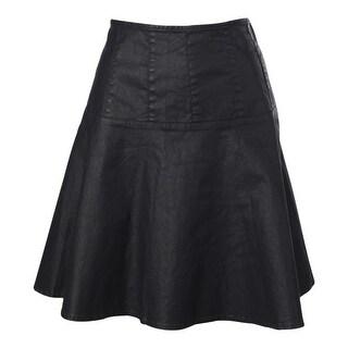 LRL Lauren Jeans Co. Womens Coated Knee-Length A-Line Skirt