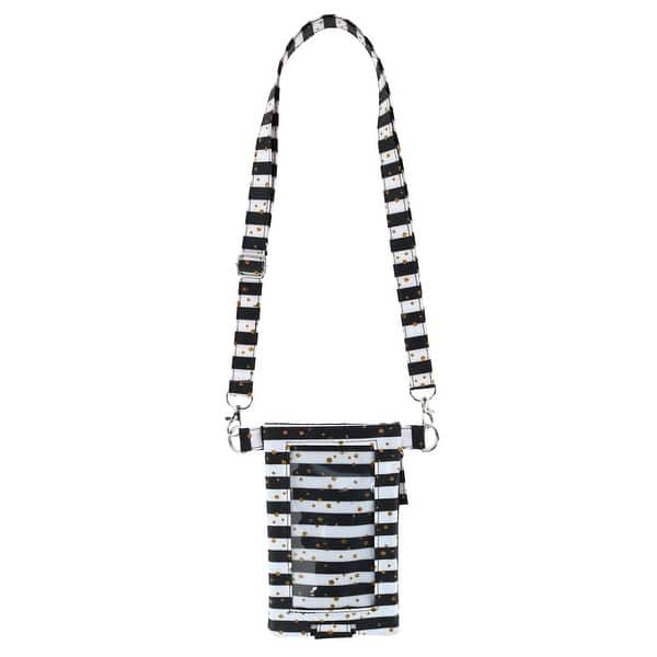 Fashion Smart Olivia Moss Crossbody Cell Phone Bag Seeing Stripes Blue Bliss