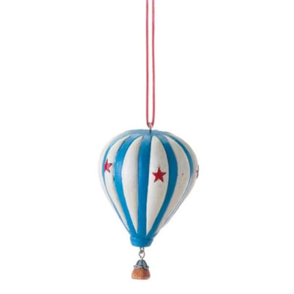 "3.5"" Novelty Colorful Star Hot Air Balloon Christmas Ornament"
