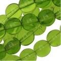 Czech Glass Druk Round Beads 8mm Olivine Green (25) - Thumbnail 0