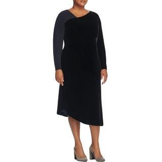 Lafayette 148 Womens Wear to Work Dress Velvet Mixed Media