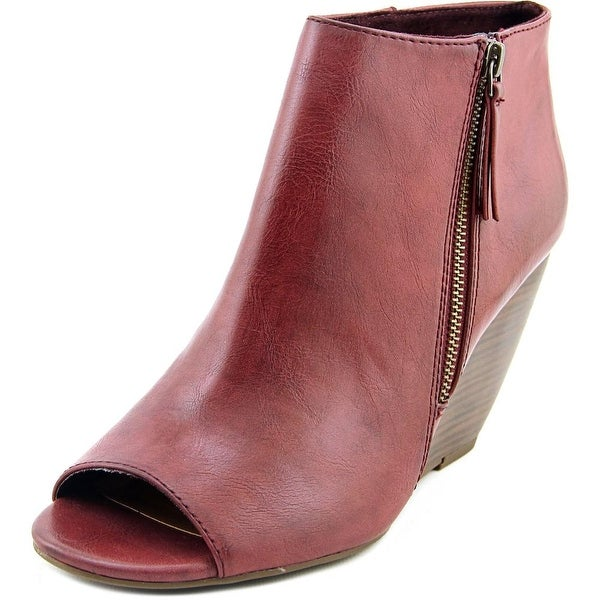 BC Footwear Rebellion II Women Peep-Toe Synthetic Bootie