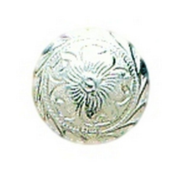"""M&F Western Concho Engraved Round Floral 3/4"""" Screw Silver"""