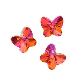 Swarovski Elements Crystal, 4748 Rivoli Butterfly Fancy Stones 5mm, 6 Pieces, Crystal Astral Pink