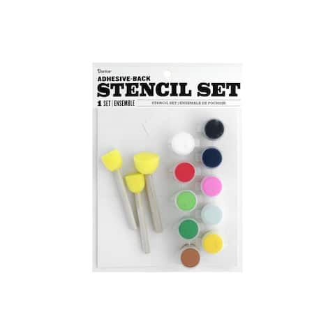 30076179 darice fabric paint stencil kit holiday