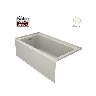"Jacuzzi LNS6032BLXXXX Linea 60"" Acrylic Soaking Bathtub for Alcove Installation with Left Hand Drain (2 options available)"