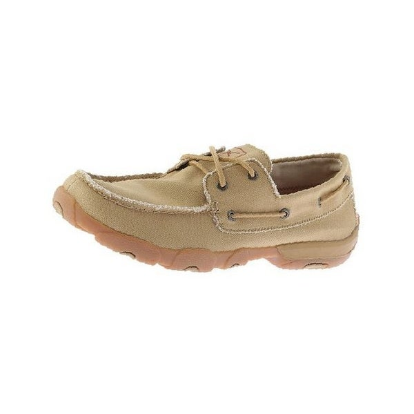 Twisted X Casual Shoes Mens Red Buckle Driving Mocs Khaki