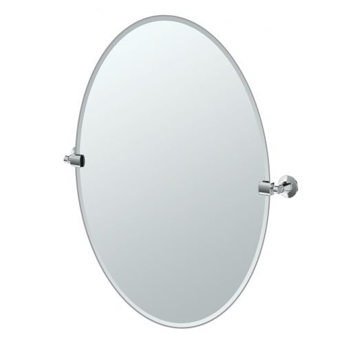 """Gatco 4849LG Max 28-1/2"""" Oval Beveled Wall Mounted Mirror with Chrome Accents"""