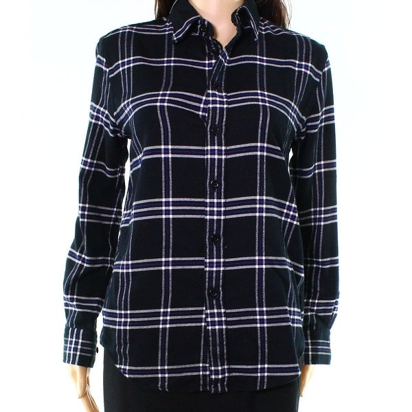 cc88f0dc Polo Ralph Lauren NEW Black Womens Size XS Plaid Button Down Shirt