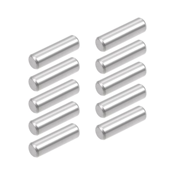 uxcell 5Pcs 6mm X 60mm Dowel Pin 304 Stainless Steel Cylindrical Shelf Support Pin Fasten Elements Silver Tone