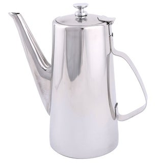 Unique Bargains Household Stainless Steel Coffee Tea Water Pot Teapot Kettle Silver Tone 2L