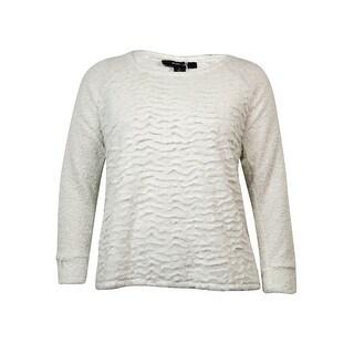 Style & Co Women's Soft Faux Fur Slit Hem Sweater