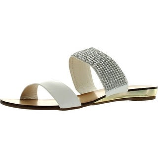 Good Choice Womens Jewel Shower Double Band Fashion Glitzy Sandals
