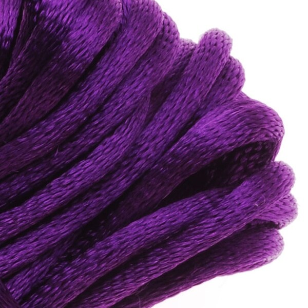 Rayon Satin Rattail 2mm Cord - Knot & Braid - Purple (6 Yards)