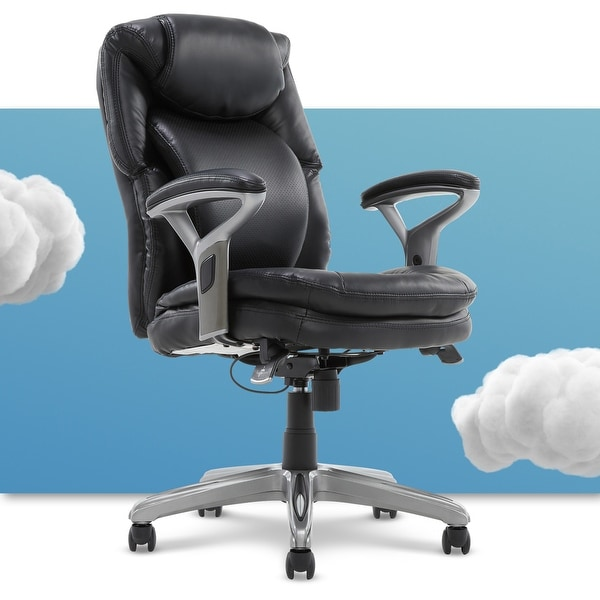 Serta Bonded Leather AIR Health and Wellness Mid Back Office Chair. Opens flyout.