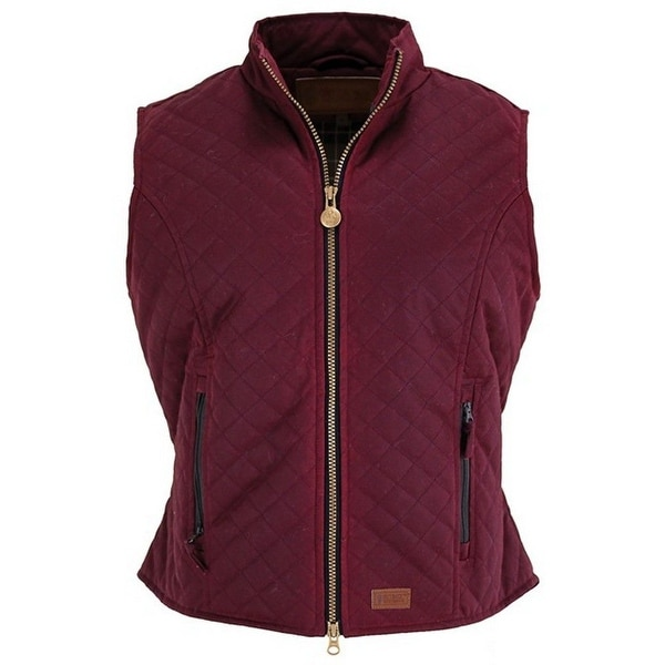 Outback Trading Western Vest Womens Quilted Zipper Princess. Opens flyout.