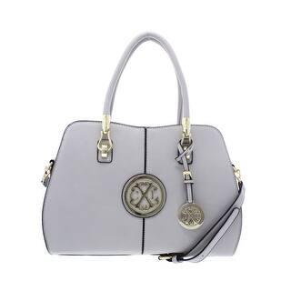 Christian Lacroix Womens Faustine Tote Handbag Faux Leather Convertible -  Medium cada58276616a