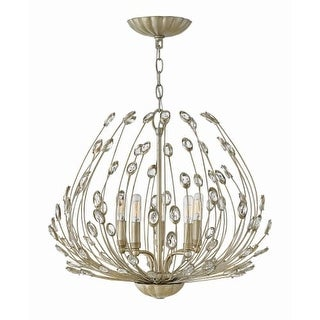 """Fredrick Ramond FR31025 Tulah 5 Light 28"""" Wide Chandelierwith Crystal Accents"""