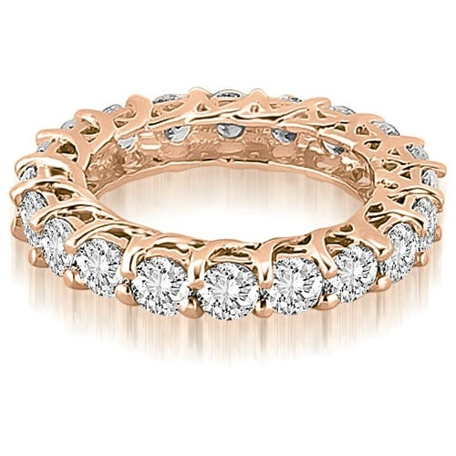 4.00 cttw. 14K Rose Gold Round Diamond Eternity Ring
