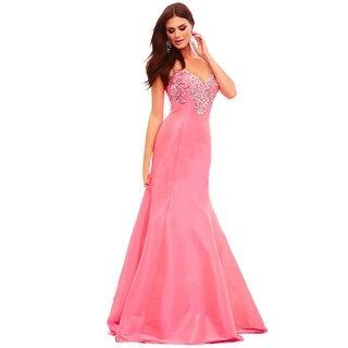 Mac Duggal Sequined Stretch Taffeta Mermaid Strapless Prom Evening Gown Dress
