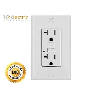 Link to White GFCI 20A 125V Tamper Resistant Outlet - 20 AMP Grounded Electrical Receptacle - Wall Plate & Screws Included (1 Pack) Similar Items in Electrical