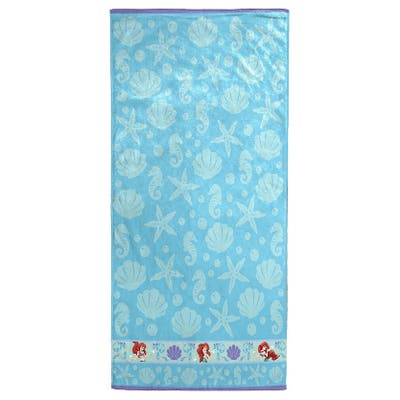 "Disney Little Mermaid Ariel Cotton Bath/Beach Towel - 28"" x 50"""