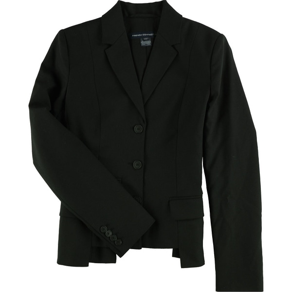 French Connection Womens Professional Three Button Blazer Jacket, Black, 2. Opens flyout.