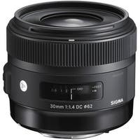 Sigma 30mm f/1.4 DC HSM Art Lens for Nikon (International Model) - black
