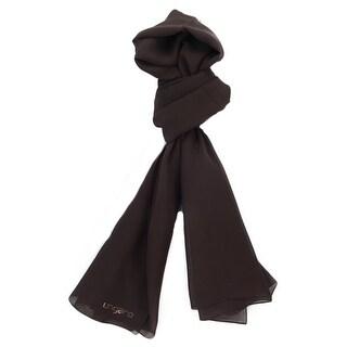 Ungaro UN7018 U0898 Classic Chocolate Brown Silk Scarf