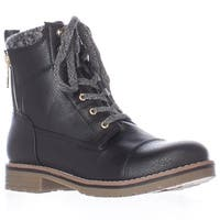 Tommy Hilfiger Omar2 Knit Top Combat Boots, Black Multi