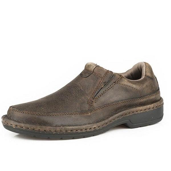 Roper Western Shoes Mens Leather Vintage Brown