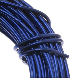 Aluminum Craft Wire Royal Blue 12 Gauge 39 Feet (11.8 Meters)