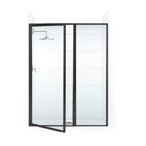 """Coastal Shower Doors L24IL15.69-C Legend Series 39"""" x 69"""" Framed Hinge Swing Shower Door with Inline Panel with Clear Glass"""