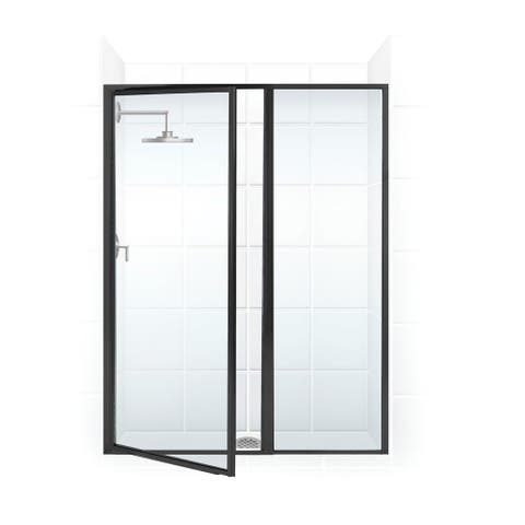 """Coastal Shower Doors L31IL13.69-C Legend Series 44"""" x 69"""" Framed Hinge Swing Shower Door with Inline Panel with Clear Glass"""