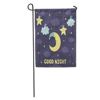 Shop Yellow Time Good Night The Cute Sleeping Moon Clouds And Stars Baby Cartoon Garden Flag Decorative Flag House Banner On Sale Overstock 31336550