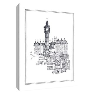 "PTM Images 9-154767  PTM Canvas Collection 10"" x 8"" - ""Big Ben"" Giclee London Art Print on Canvas"