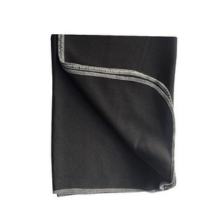 Sophia Sam Baby Black Solid Color Organic Cotton Swaddle Blanket - One size